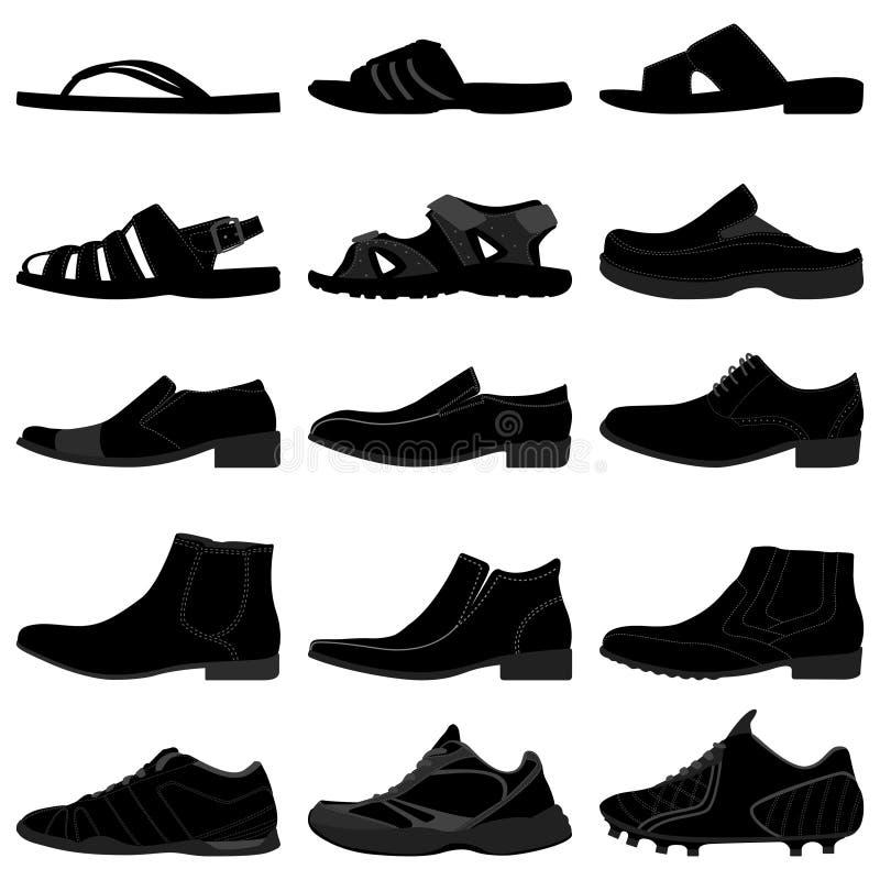 Chaussures mâles de chaussures d'hommes d'homme illustration stock