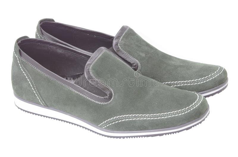 Chaussures mâles grises photographie stock libre de droits