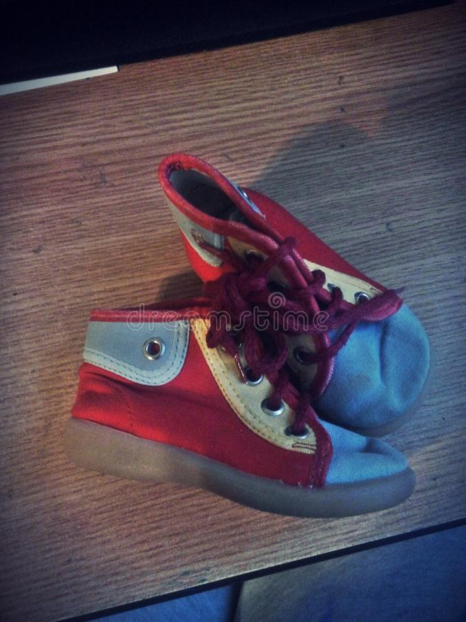 Chaussures minuscules image libre de droits