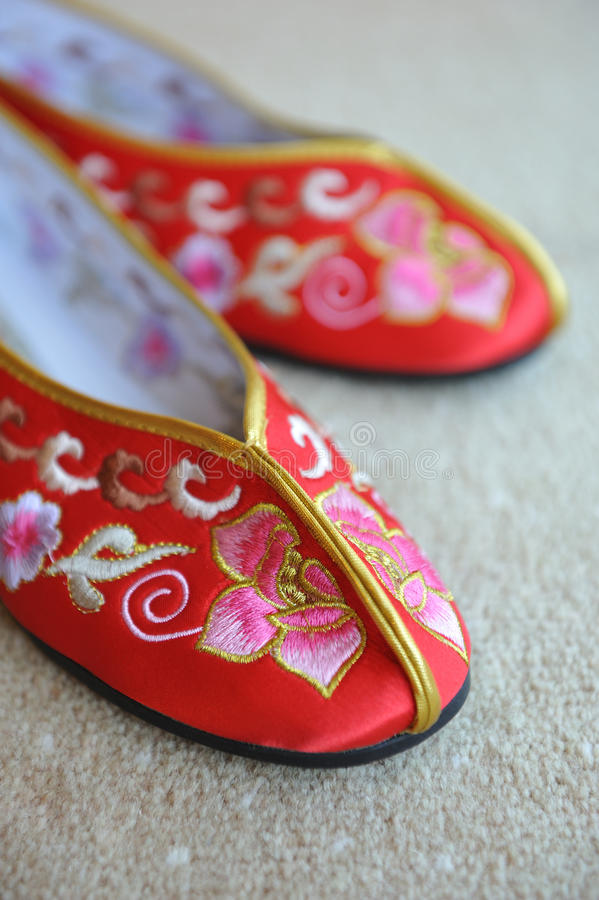 Chaussures orientales de mariage photos stock