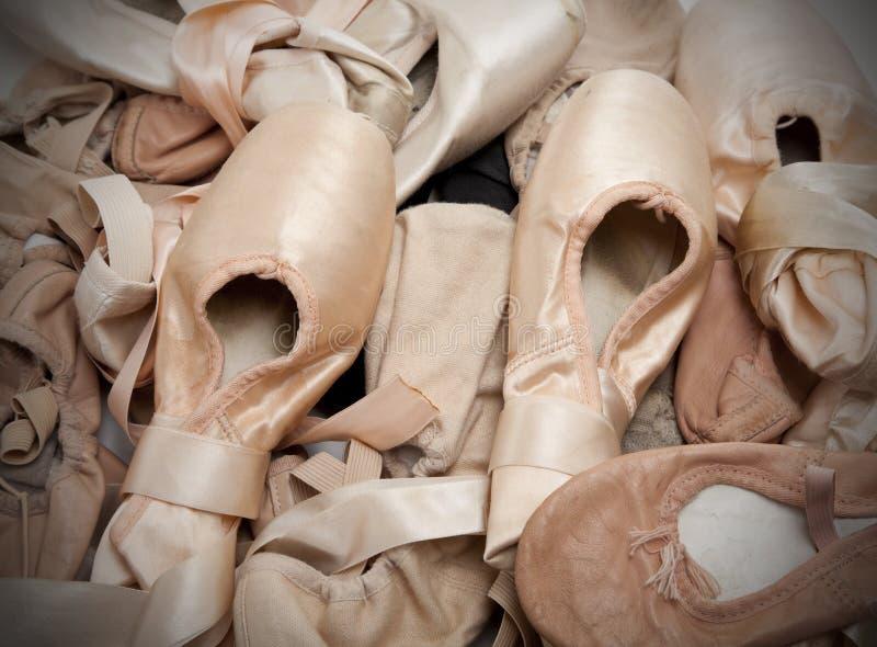 Chaussures ou chaussons de ballet photographie stock