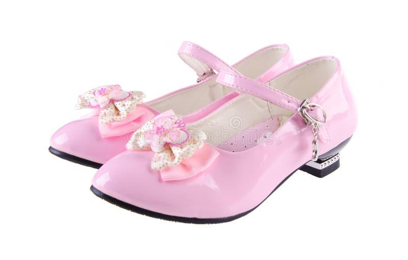 Chaussures pour des filles sur le fond photos libres de droits