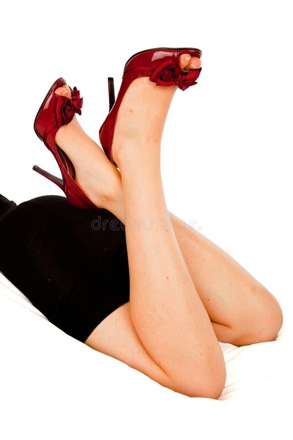 Chaussures rouges sexy photos libres de droits