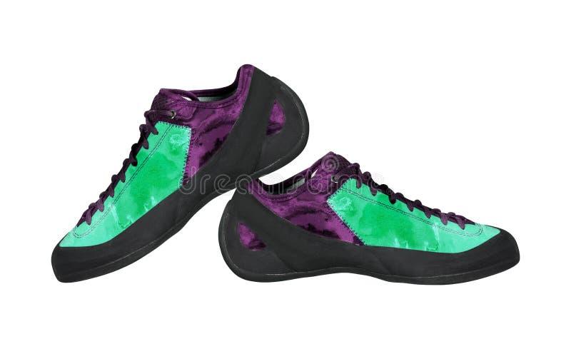 Chaussures s'élevantes d'isolement sur le blanc images libres de droits