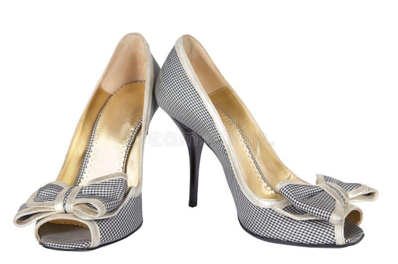 Chaussures sur un haut talon images libres de droits