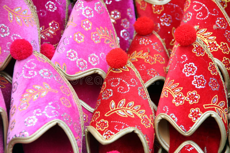 Chaussures traditionnelles de la Turquie photographie stock libre de droits
