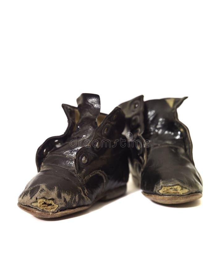 Chaussures usées de cru photographie stock