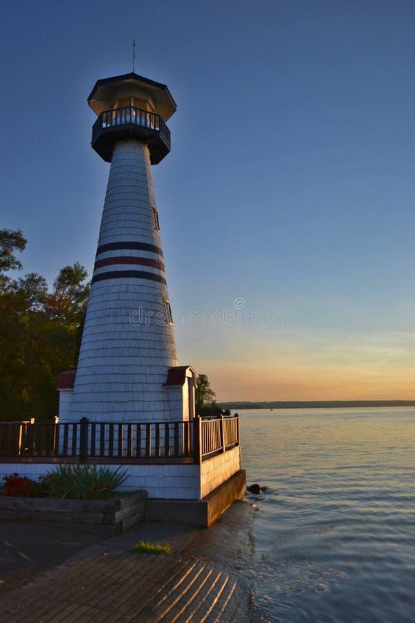 Chautauqua lighthouse. Near Jamestown New York stock photos