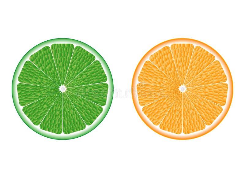 Chaux et orange illustration libre de droits
