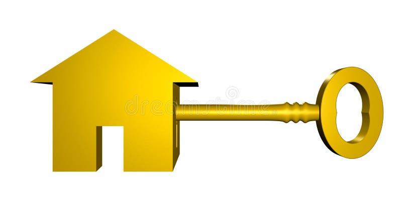 Chave à casa nova ilustração do vetor