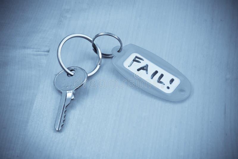 A chave à falha imagens de stock royalty free