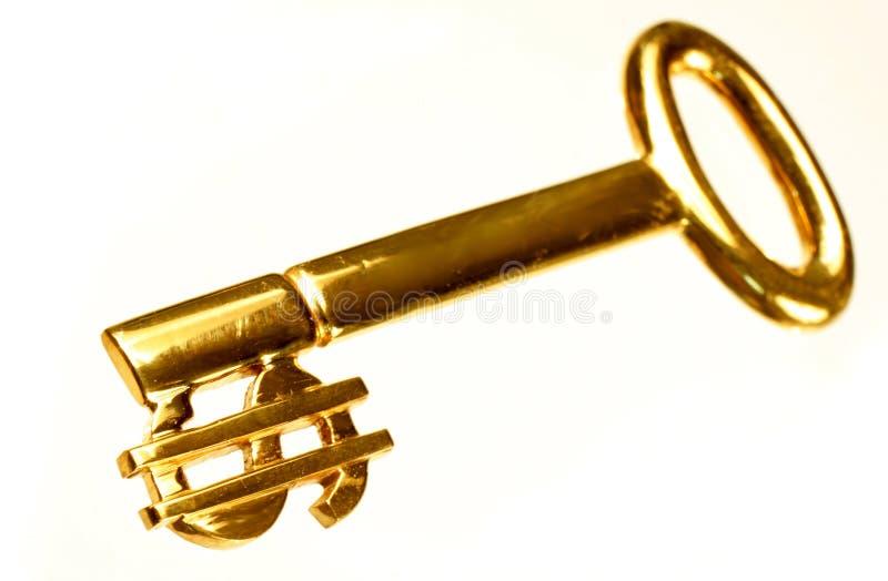 Chave 2 do ouro imagem de stock