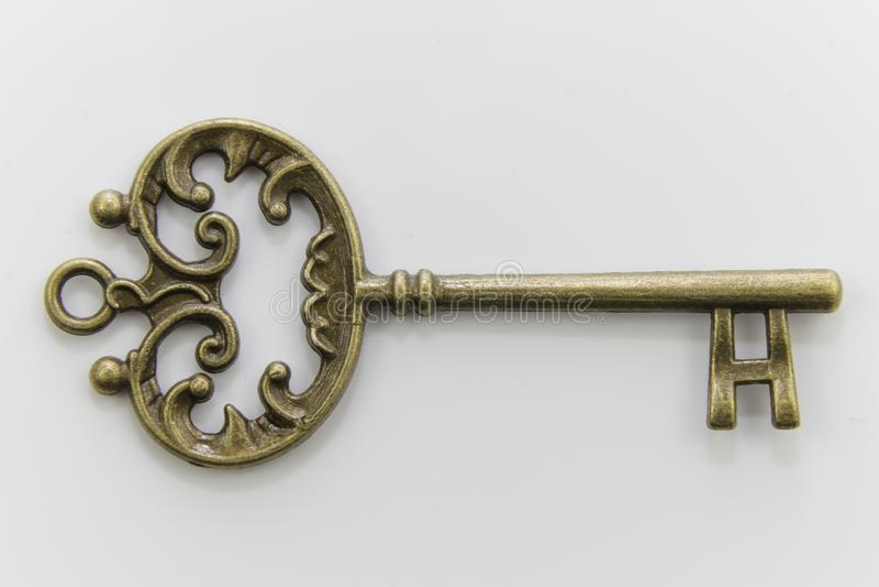 Chave antiga original bonita do metal foto de stock royalty free