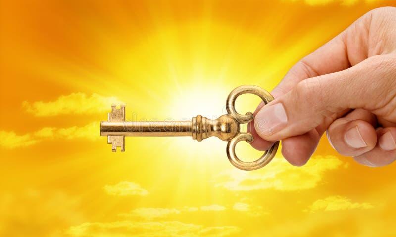 A chave ao sucesso imagens de stock