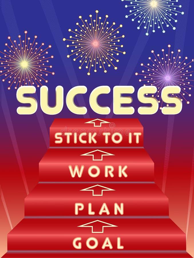 Chave ao sucesso ilustração do vetor