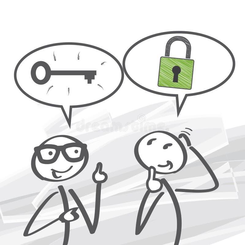 A chave ao sucesso ilustração do vetor