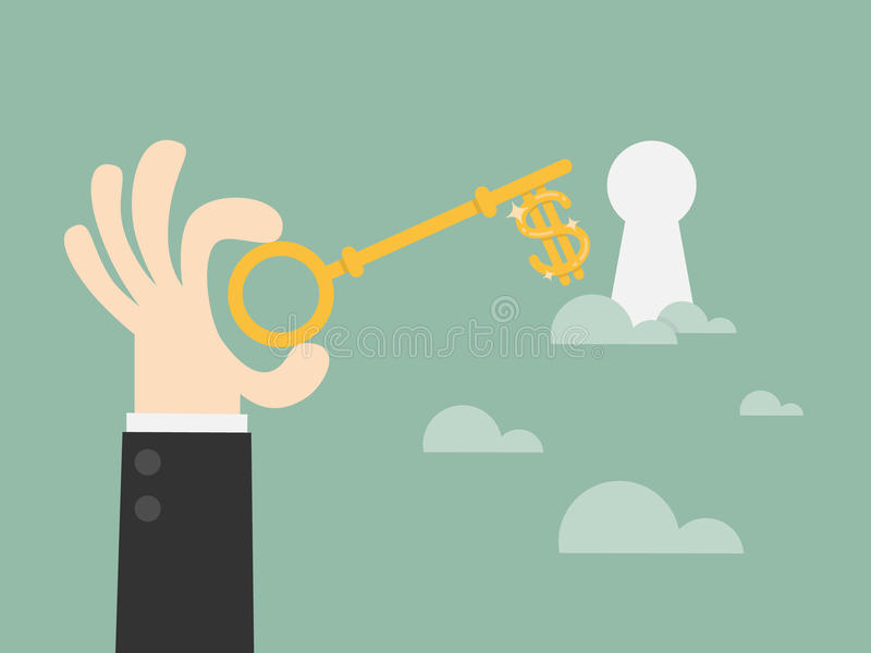 Chave ao sucesso ilustração stock