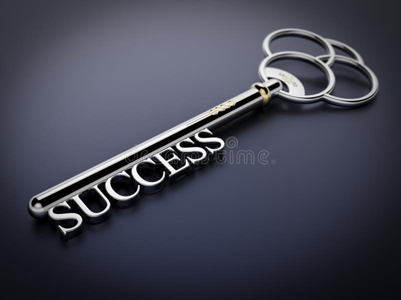 Chave ao sucesso - obscuridade - azul imagens de stock