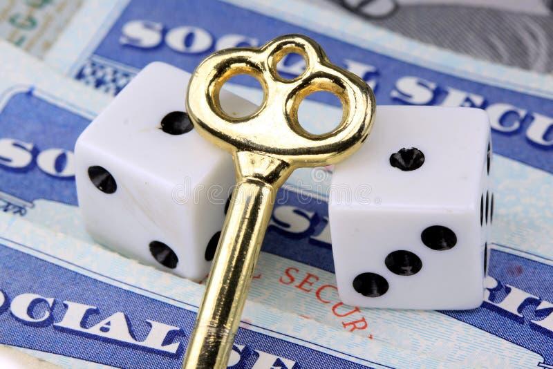 A chave aos benefícios de segurança social imagens de stock royalty free