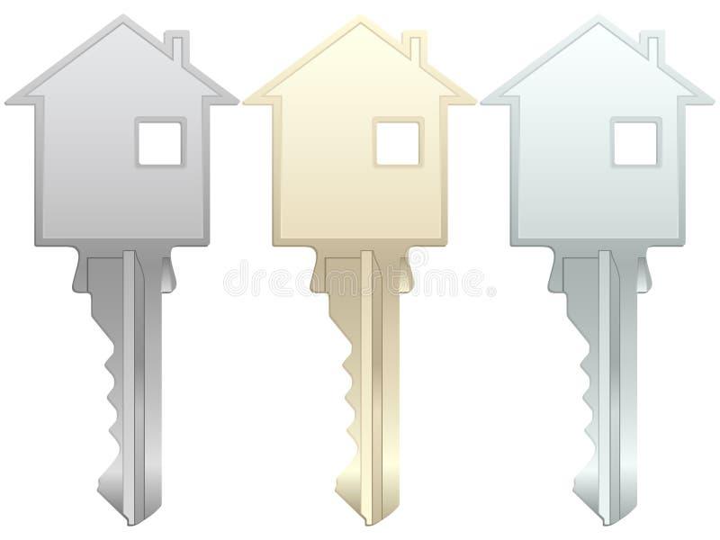 Chave da casa ilustração stock