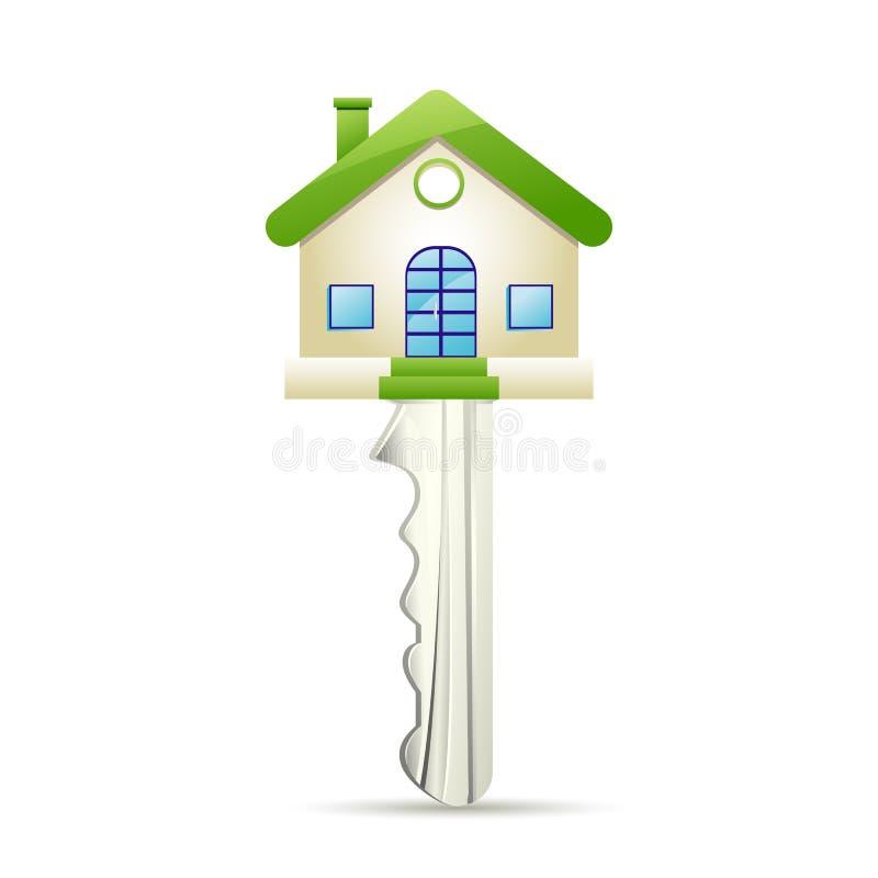 Chave da casa ideal ilustração royalty free