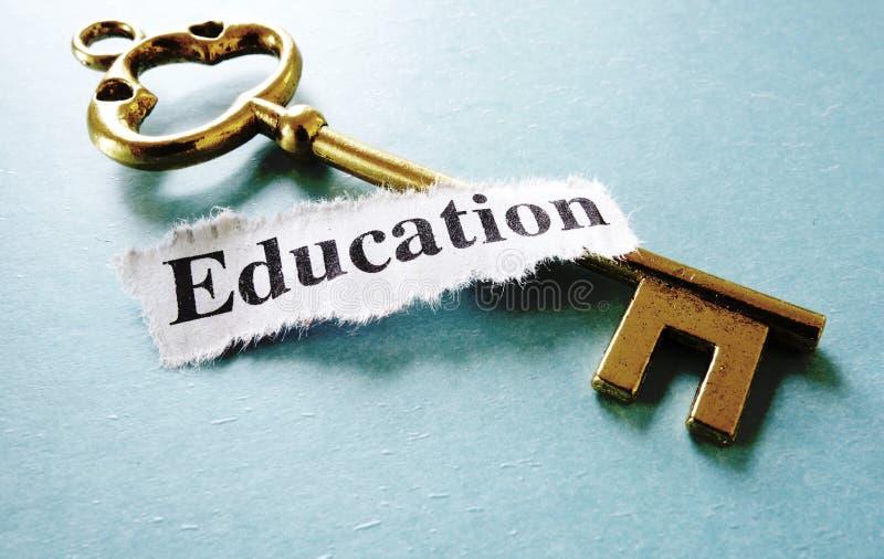 Chave da educação foto de stock royalty free