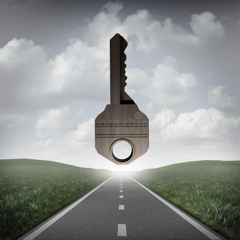 Chave da estrada ao sucesso ilustração stock