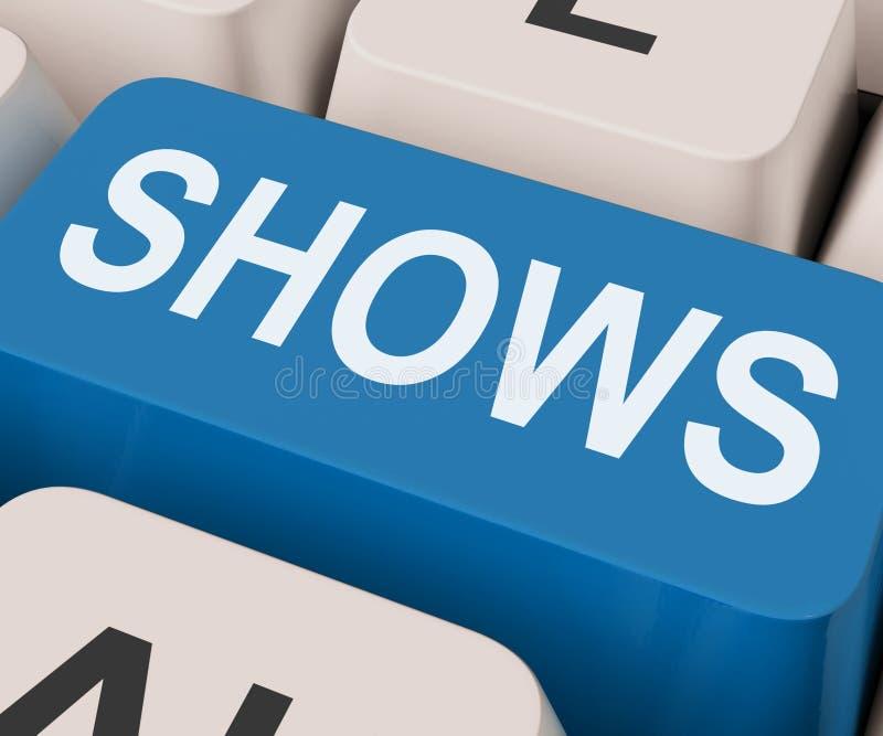 A chave das mostras significa o entretenimento ou o teatro dos Musicals imagens de stock royalty free