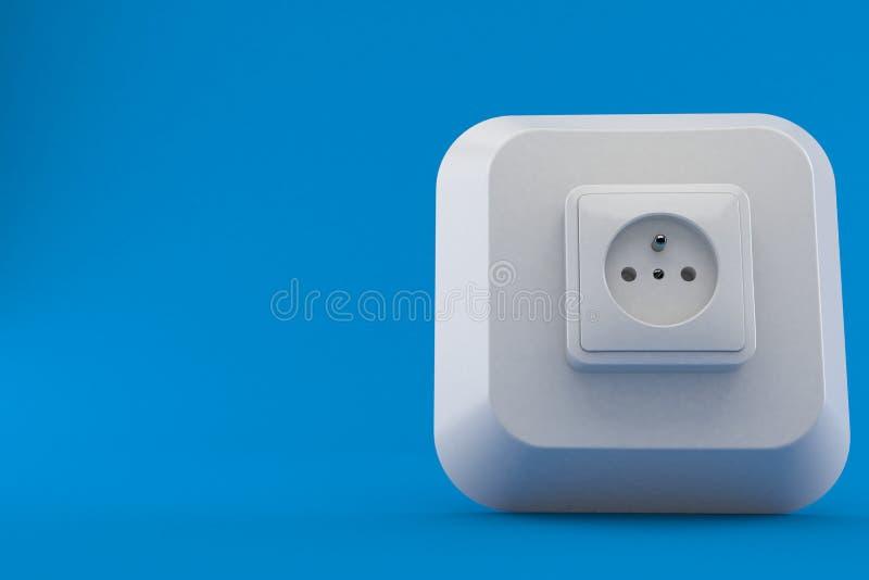 Chave de computador com tomada elétrica ilustração do vetor