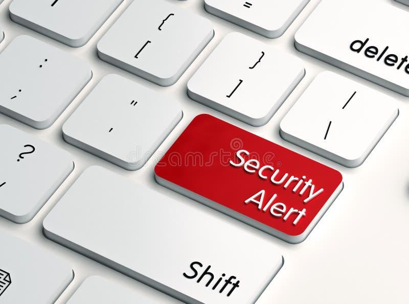 Chave de computador do alerta de segurança ilustração do vetor