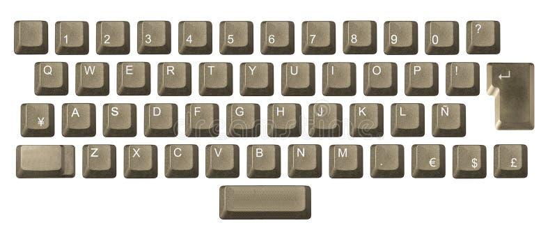 Chave de computador em um teclado imagem de stock royalty free