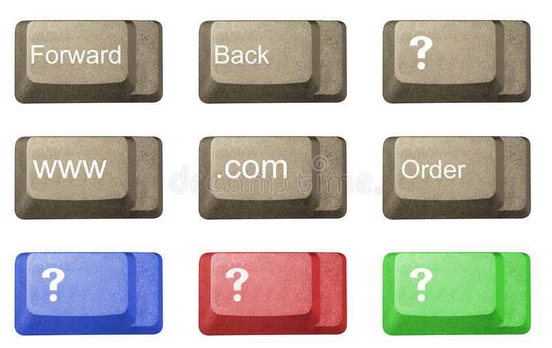Chave de computador em um teclado foto de stock royalty free