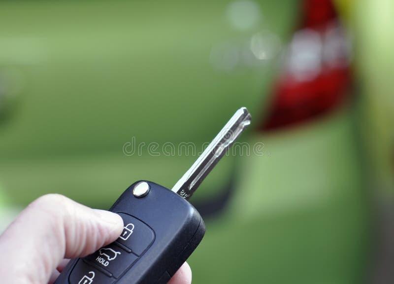 Chave de controle remoto do carro imagem de stock royalty free