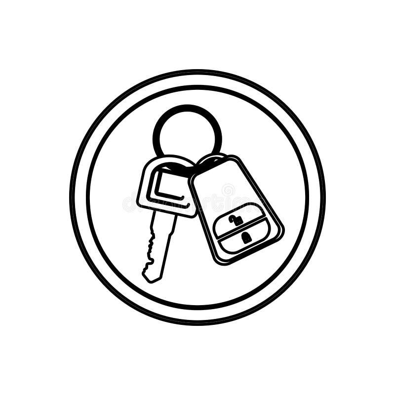Chave de controle remoto do carro ilustração royalty free