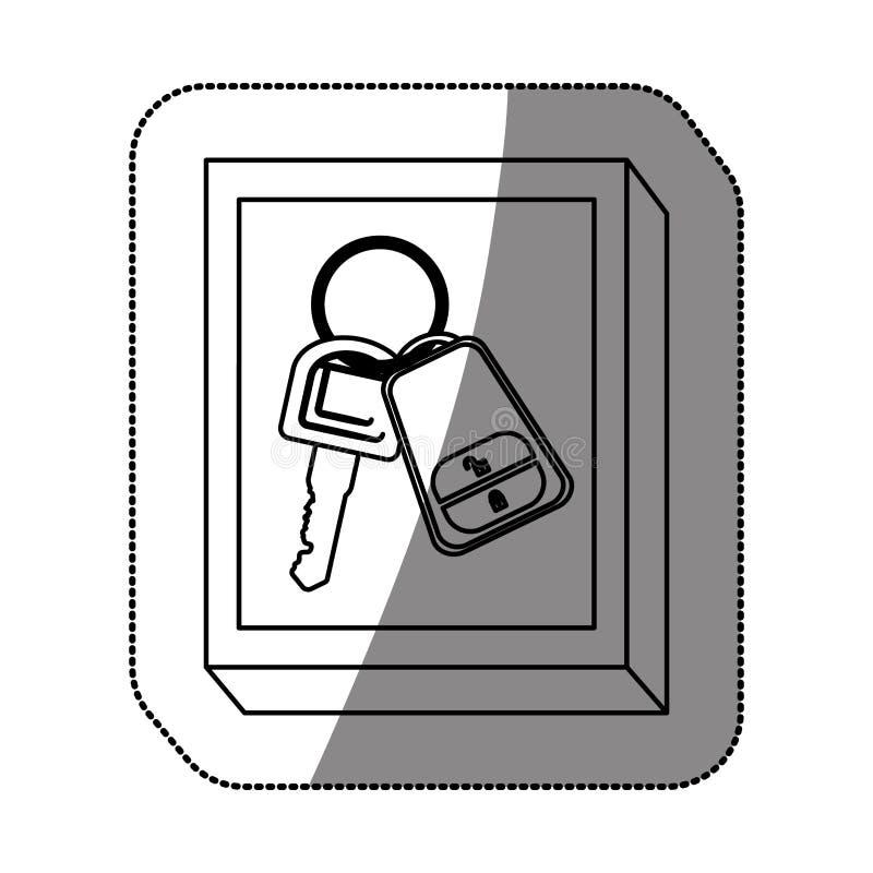 Chave de controle remoto do carro ilustração stock