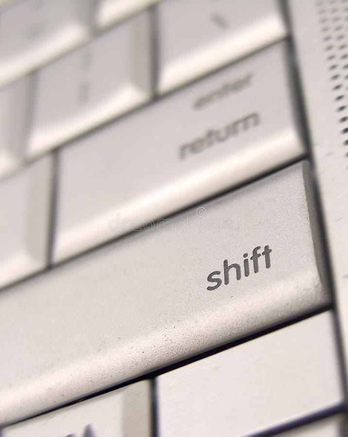 Chave de SHIFT imagens de stock