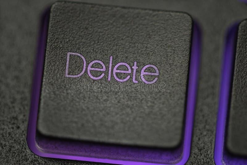 Chave de supressão no teclado fotografia de stock royalty free