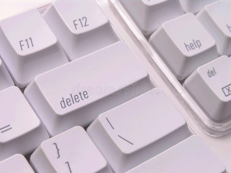 Chave de supressão no teclado fotos de stock royalty free