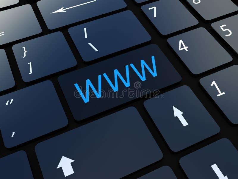 Chave De WWW Do Teclado Imagens de Stock Royalty Free