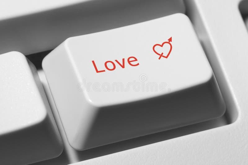 Chave do amor fotografia de stock