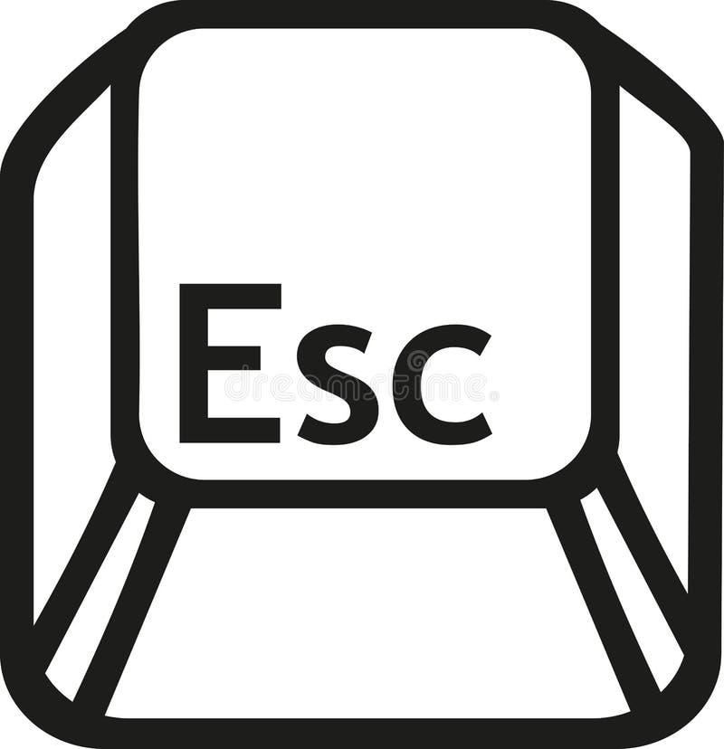 Chave do botão do escape ilustração royalty free
