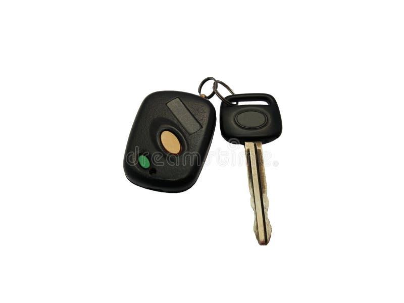 Chave do controlo a distância do carro e do carro fotografia de stock royalty free