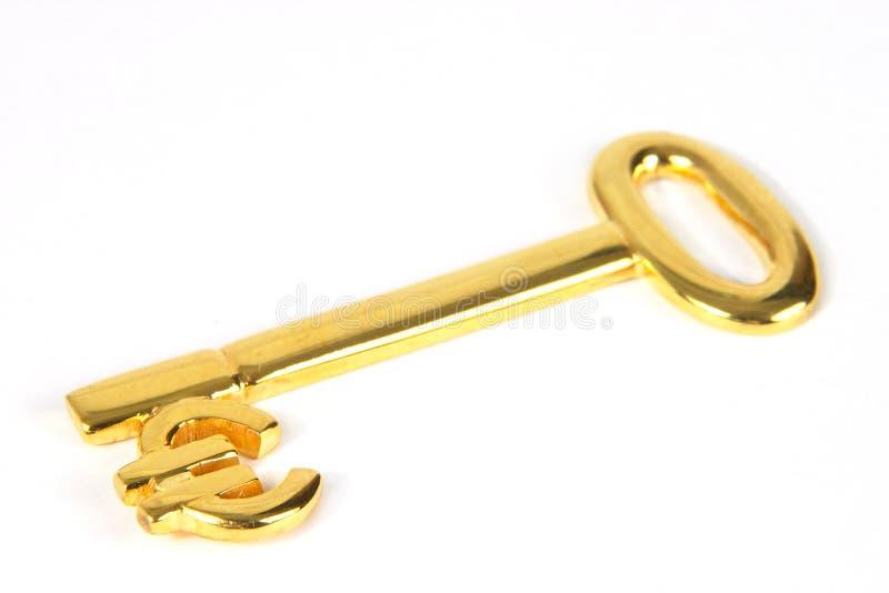 Chave do euro do ouro fotografia de stock
