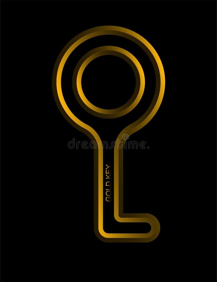 Chave do ouro do projeto ilustração royalty free