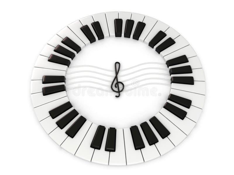 Download Chave do piano ilustração stock. Ilustração de barra - 12803323