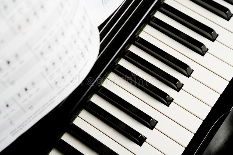 Chave do piano foto de stock