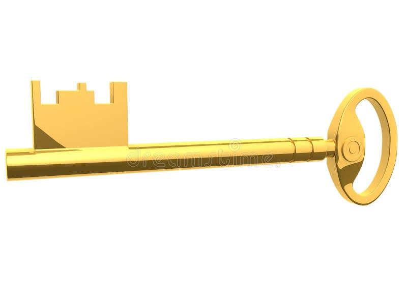 Chave dourada ilustração royalty free