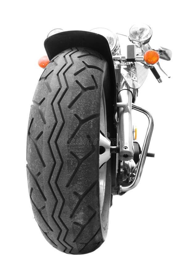 Chave elevada da motocicleta fotografia de stock