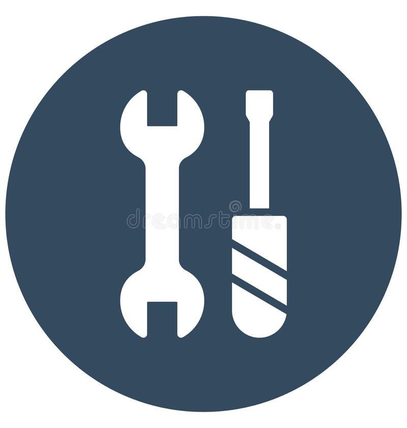 Chave inglesa, ícone isolado manutenção do vetor que pode ser muito facilmente editar ou alterou A chave inglesa, manutenção isol ilustração do vetor
