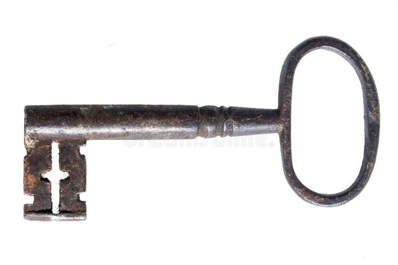 Chave levemente oxidada velha do metal da antiguidade foto de stock royalty free